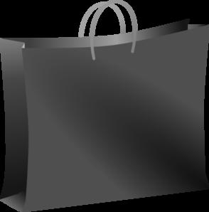 Black and white shopping bag clipart svg transparent download Black Shopping Bag Clip Art at Clker.com - vector clip art online ... svg transparent download