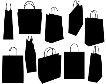 Black and white shopping bag clipart graphic free stock Shopping Bags Clipart Black And White (99+ images in Collection) Page 3 graphic free stock