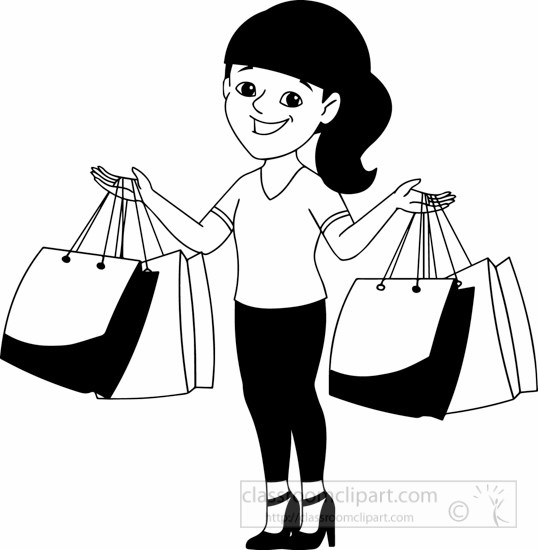 Black and white shopping clipart banner black and white Shopping clipart black and white 6 » Clipart Portal banner black and white