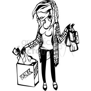 Black and white shopping clipart jpg stock Shopping clipart black and white 4 » Clipart Portal jpg stock