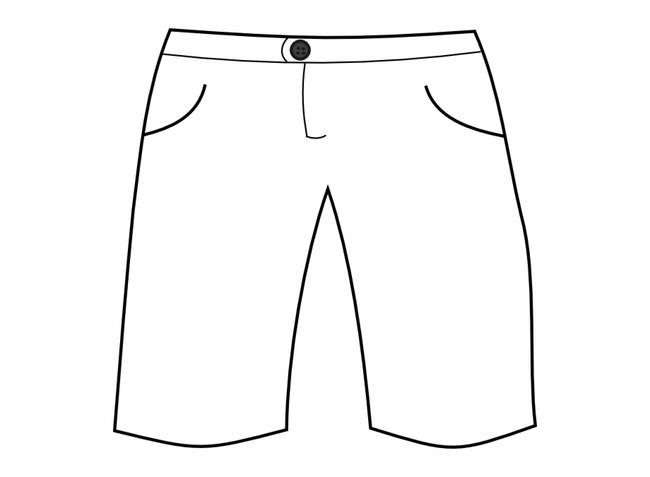 Black and white shorts clipart
