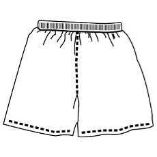Black and white shorts clipart jpg royalty free stock Shorts clipart black and white 1 » Clipart Portal jpg royalty free stock