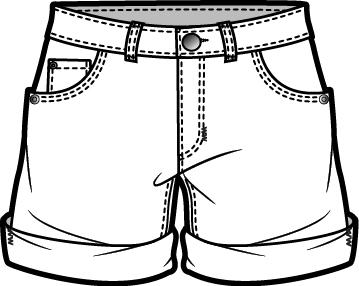 Black and white shorts clipart jpg transparent Shorts clipart black and white 2 » Clipart Station jpg transparent