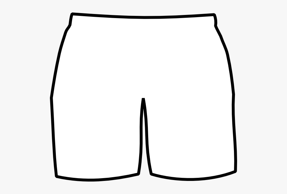 Black and white shorts clipart black and white library Boxer Clipart Boxer Briefs - Blank Black Shorts Template #193550 ... black and white library