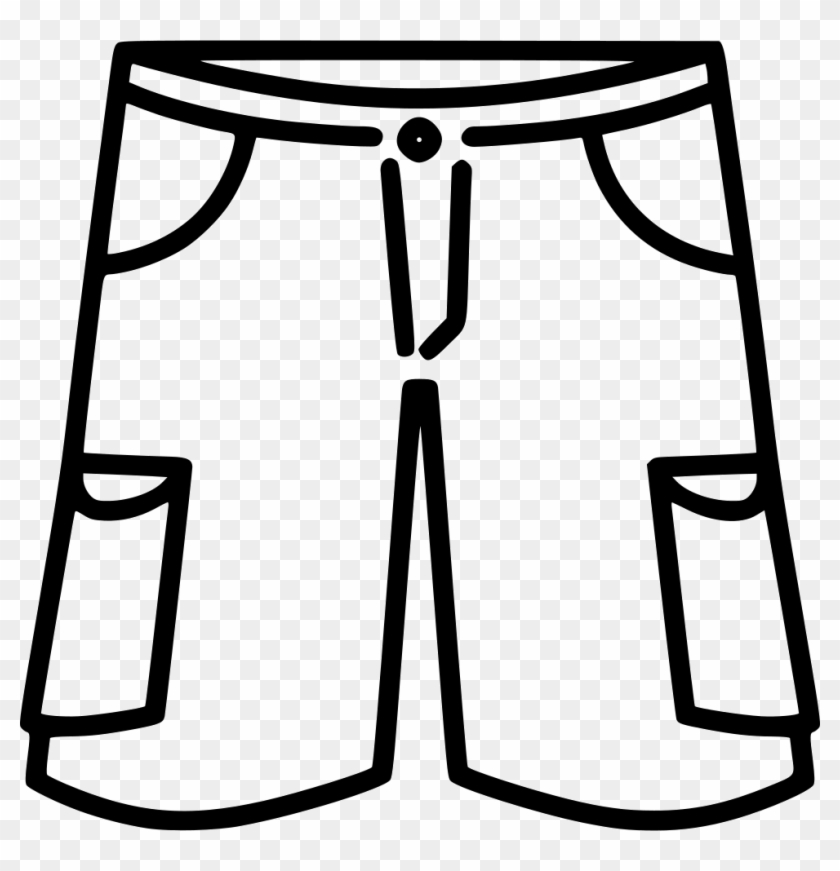 Black and white shorts clipart vector free download Cargo Shorts Comments - Shorts Black And White Clipart, HD Png ... vector free download