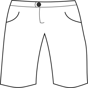 Short pants clipart png black and white White Shorts Clip Art at Clker.com - vector clip art online, royalty ... png black and white