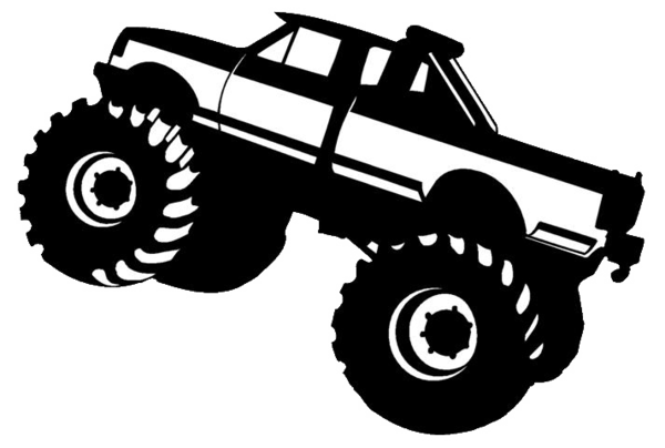 Black and white simple monster truck clipart picture library Free Monster Truck Clip Art, Download Free Clip Art, Free Clip Art ... picture library