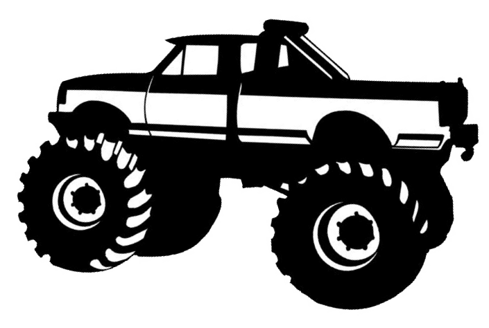 Black and white simple monster truck clipart png freeuse download Free Monster Truck Clip Art, Download Free Clip Art, Free Clip Art ... png freeuse download