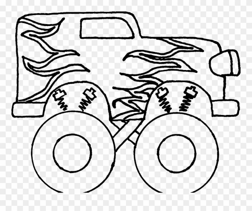 Black and white simple monster truck clipart image free stock Monster Truck Coloring Sheet Many Interesting Cliparts - Easy Steps ... image free stock