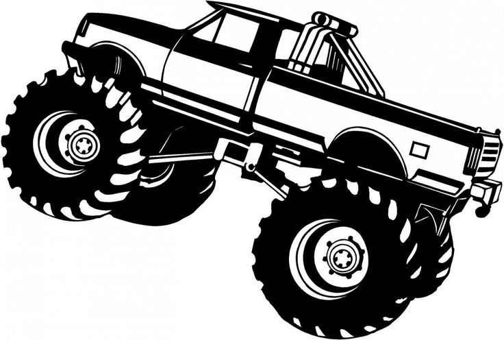 Mud truck coloring pages good chevy clipart clipground