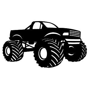 Black and white simple monster truck clipart banner free stock silhouette images monster trucks - Bing Images | wood ideas ... banner free stock