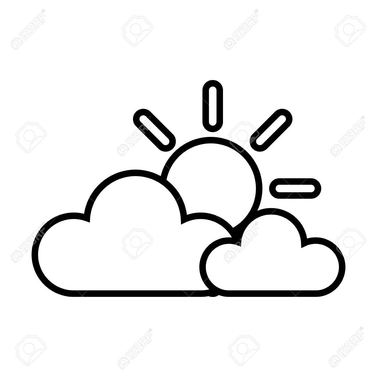 Black and white sky clipart