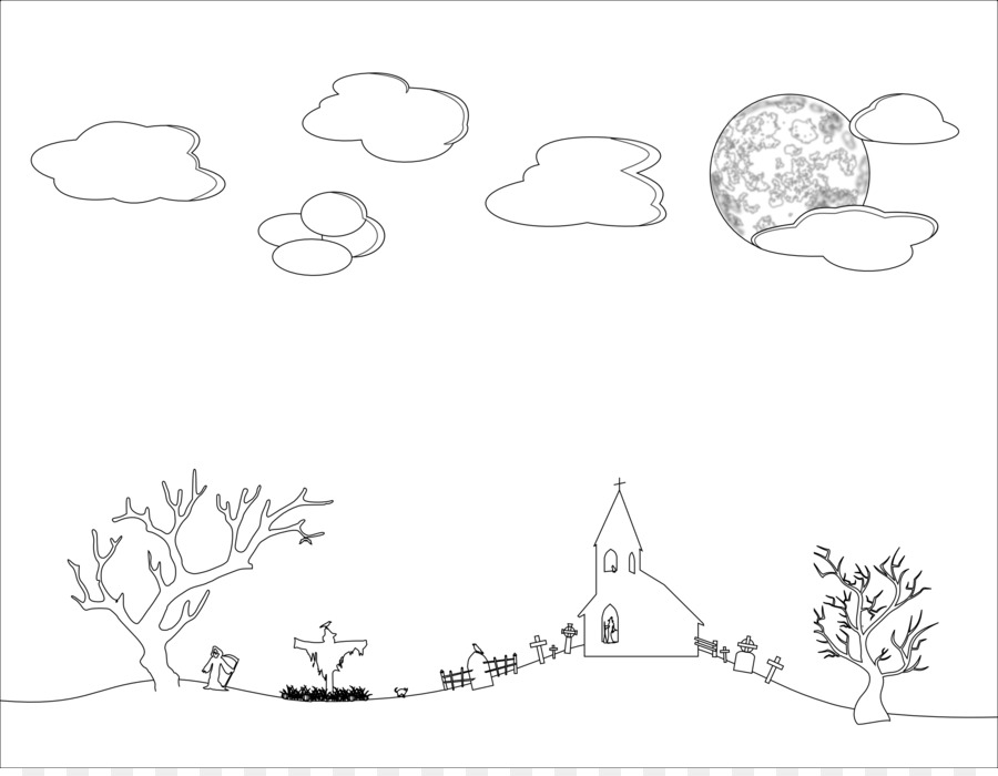 In the sky clipart black and white clip free library Border Black And White png download - 2555*1968 - Free Transparent ... clip free library