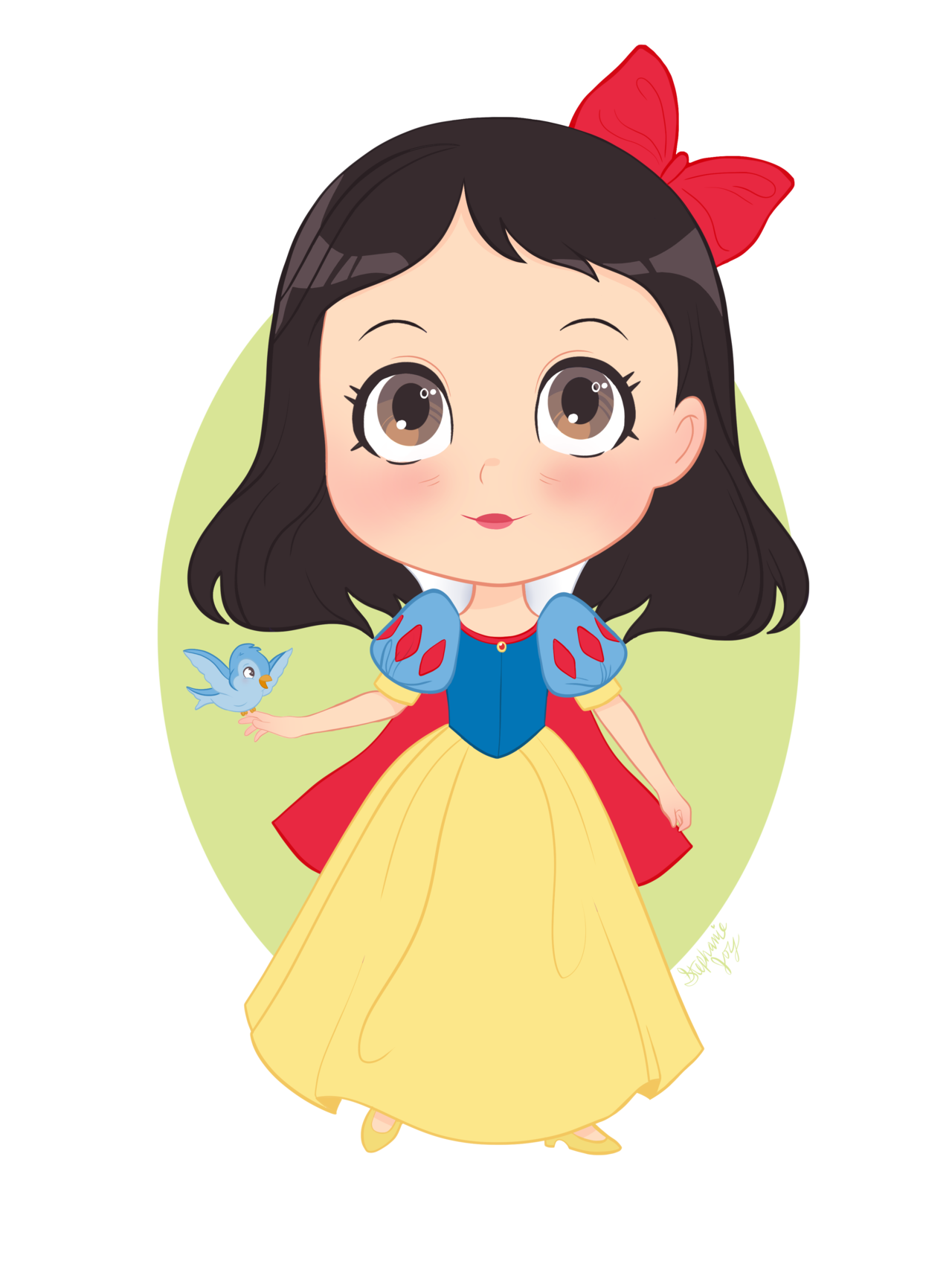 Snow white with apple clipart banner free download Snow White is just so cute, I love drawing her Check out my ... banner free download