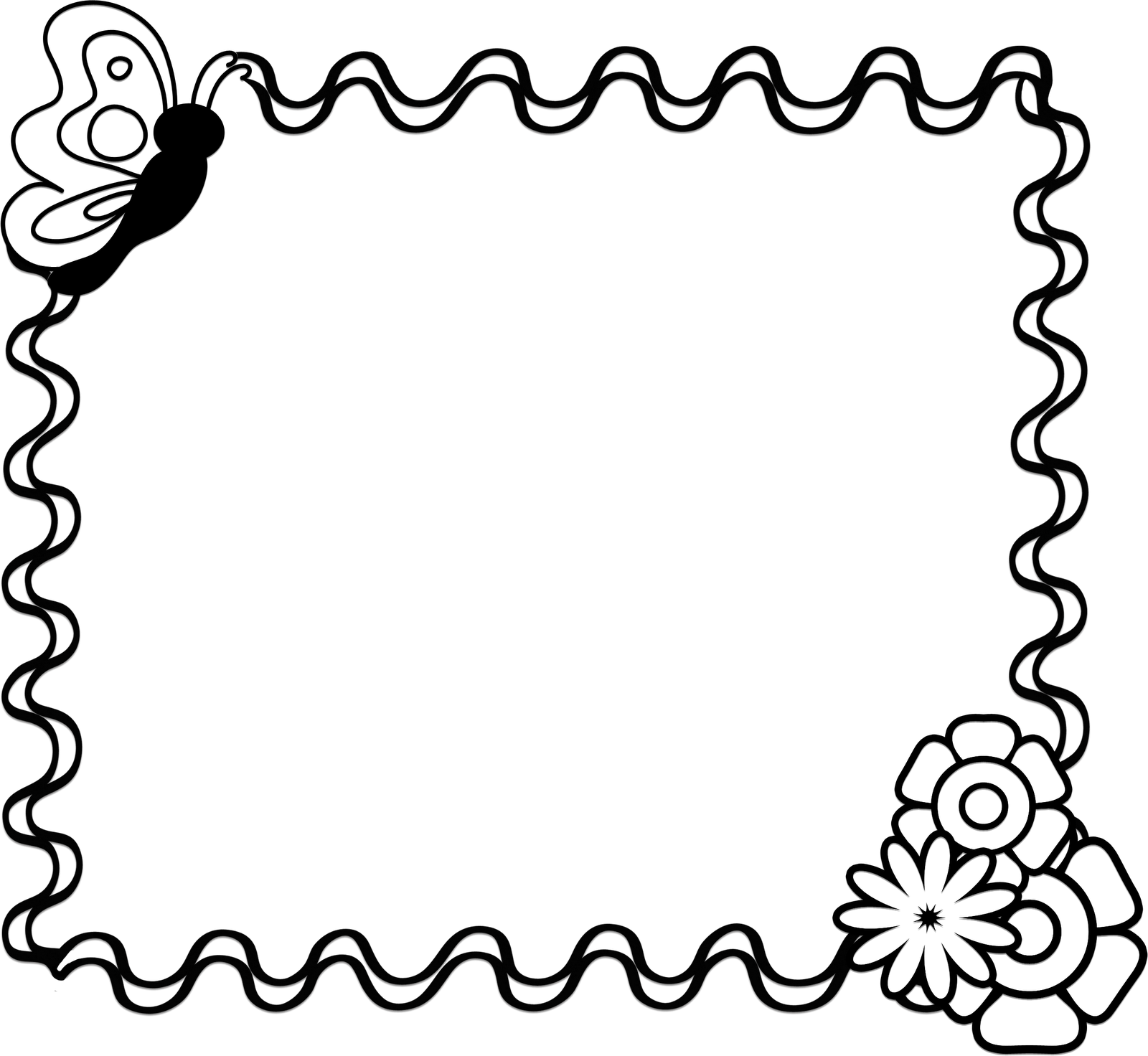 Black and white snowflake clipart border image transparent download flower black and white flower clipart black and white border 2 ... image transparent download