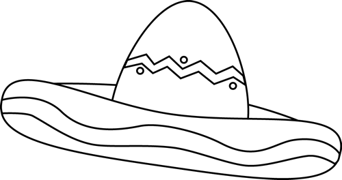 Black and white sombrero clipart png Shake things up for Cinco de Mayo! Description from pinterest.com. I ... png