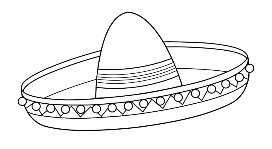 Black and white sombrero clipart image free stock Mexican Sombrero First Grade Pinterest Sombreros - Sombrero Clipart ... image free stock