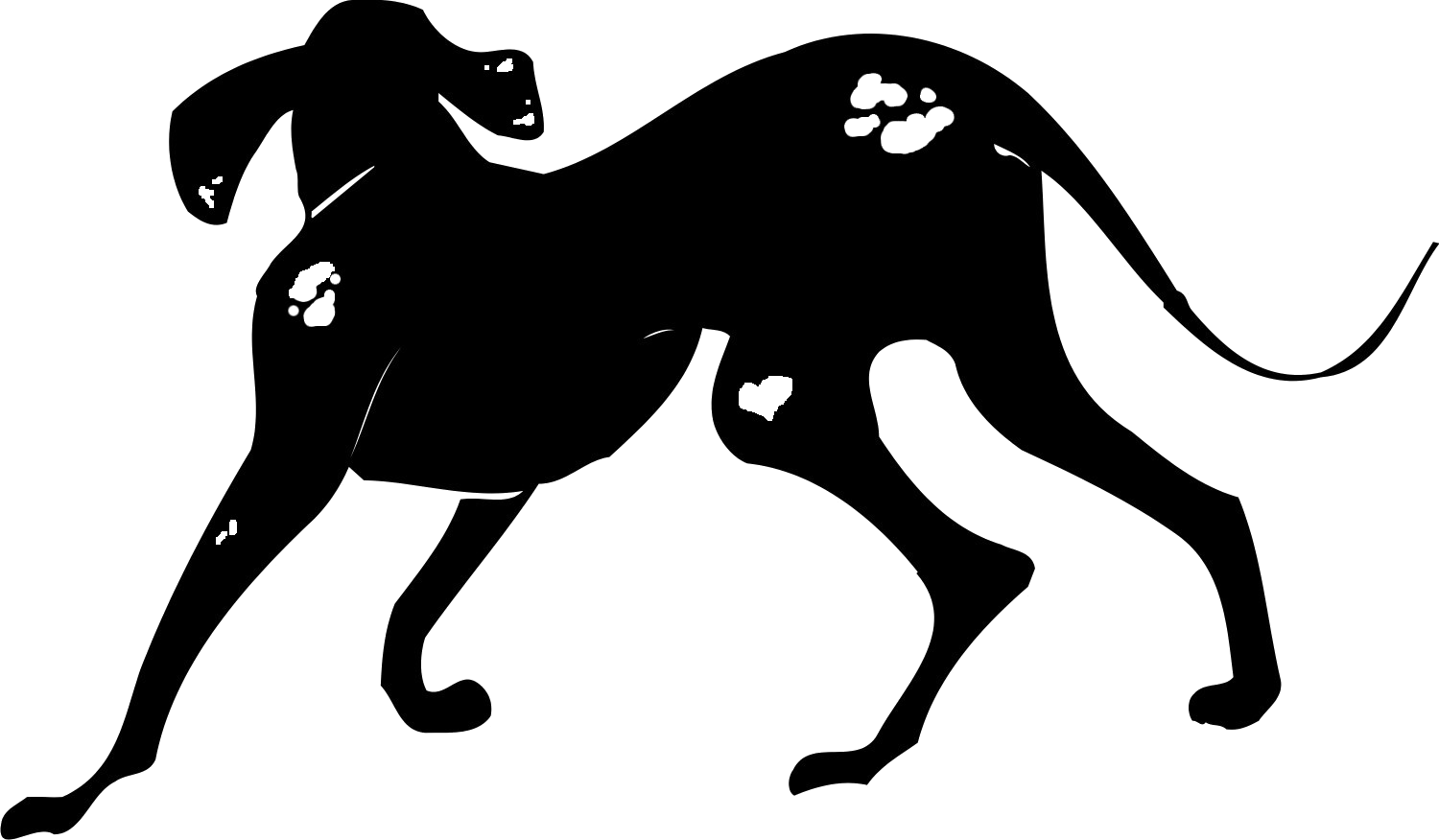 Black and white spotted dog clipart png black and white stock Spotted Cur png black and white stock