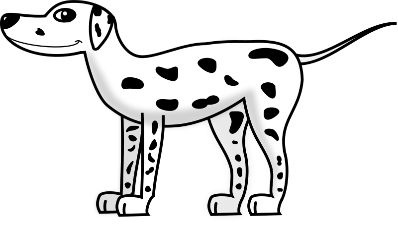 collection of spotted. Dog clipart coloring