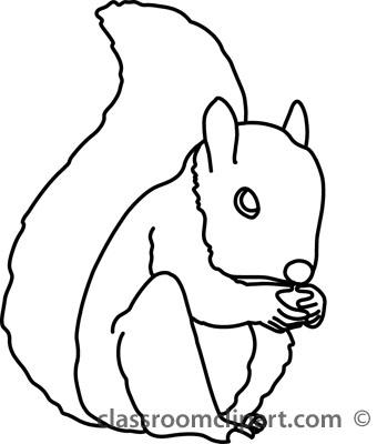 Squirrel clipart black and white transparent Squirrel Clip Art Black And White | Clipart Panda - Free Clipart Images transparent