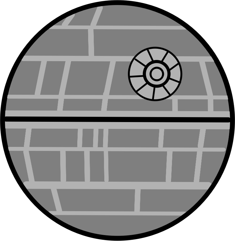 Death star clipart black and white picture royalty free download Death Star Star Wars Laser Clip art - death star 757*776 transprent ... picture royalty free download