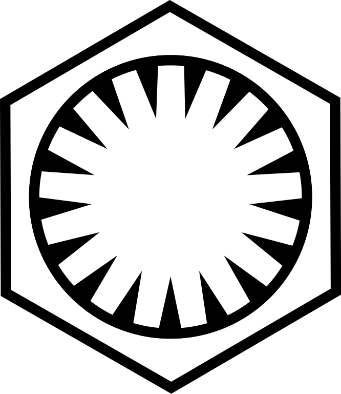 Black and white star wars clipart png freeuse stock File:Emblem of the First Order.svg - Wikimedia Commons png freeuse stock