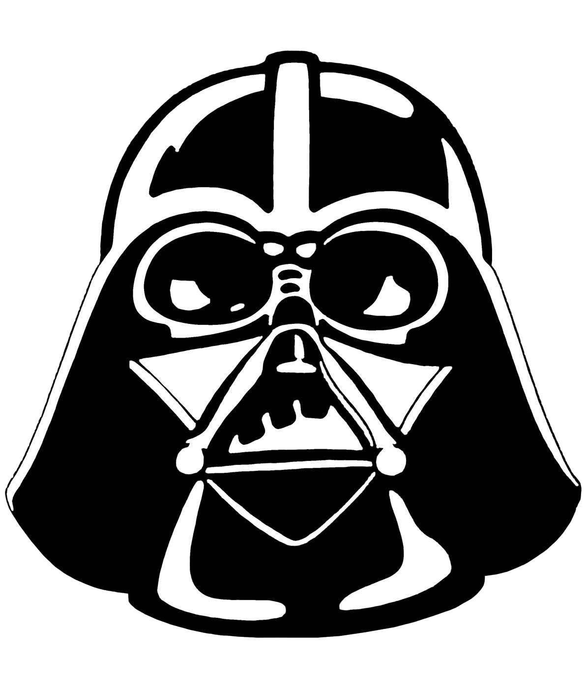 Star wars characters clipart black and white