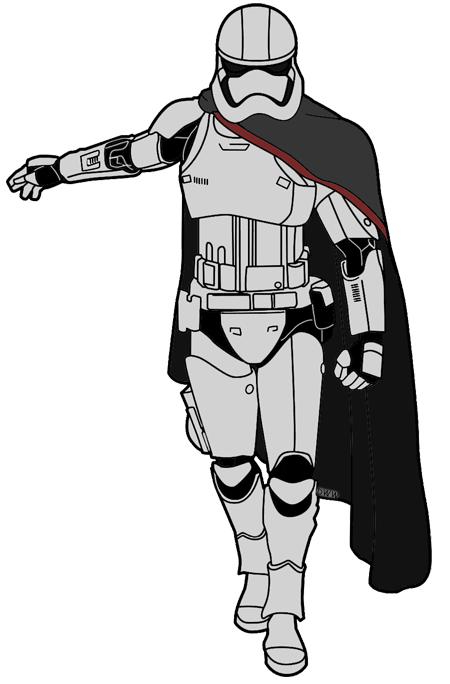 Star wars clipart boba fett picture black and white library captain-phasma.png 450×684 pixels | Star Wars Diy Printables ... picture black and white library