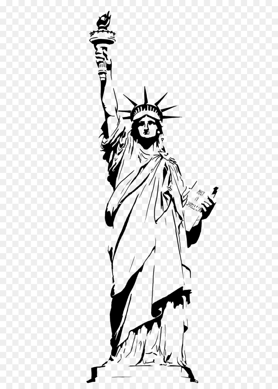 Black and white statue of liberty clipart graphic free library Statue of Liberty Drawing Clip art - Statue Of Liberty Drawing ... graphic free library