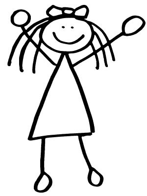 """Black and white stick figure clipart graphic free I can\'t even draw a stick figure!""""   NGSS video   Stick men drawings ... graphic free"""