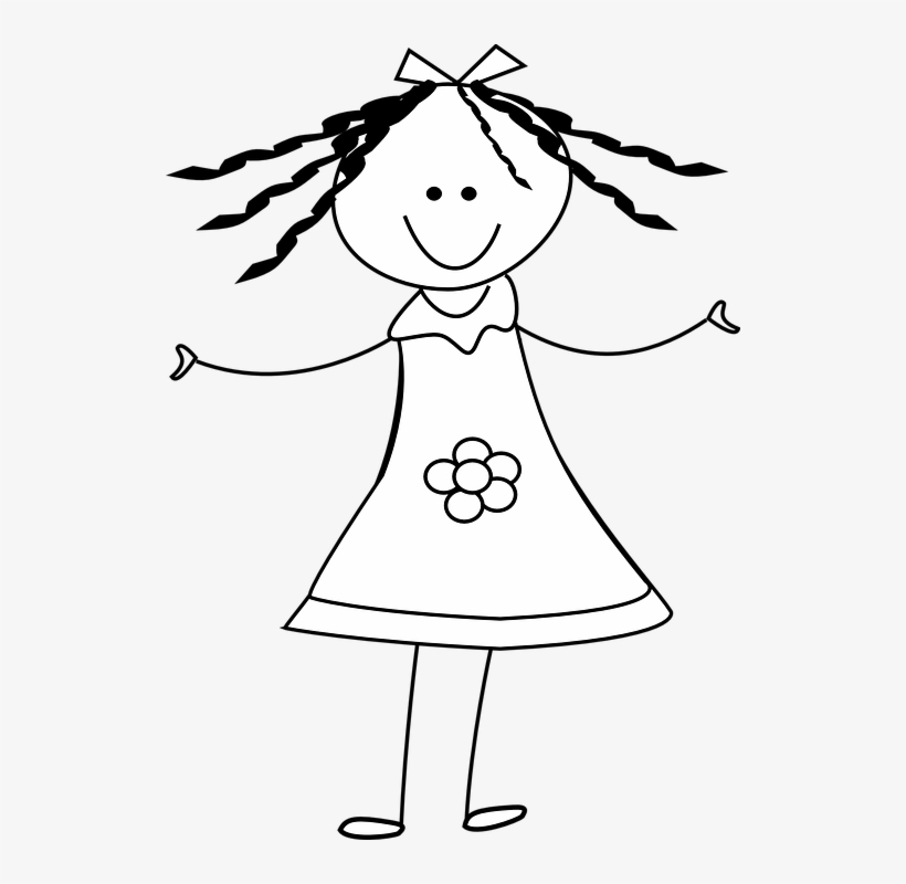 Girl on phone clipart black and white clipart transparent download Female Stick Figure Png - Girl Clipart Black And White - Free ... clipart transparent download