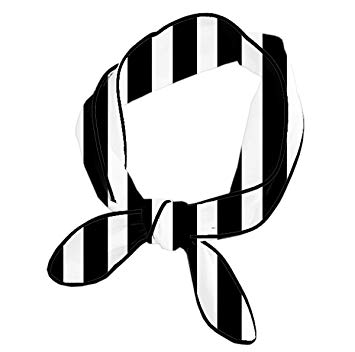 Black and white striped ribbon clipart banner library Amazon.com : Multipurpose Headband For Women Yoga Running Workout ... banner library