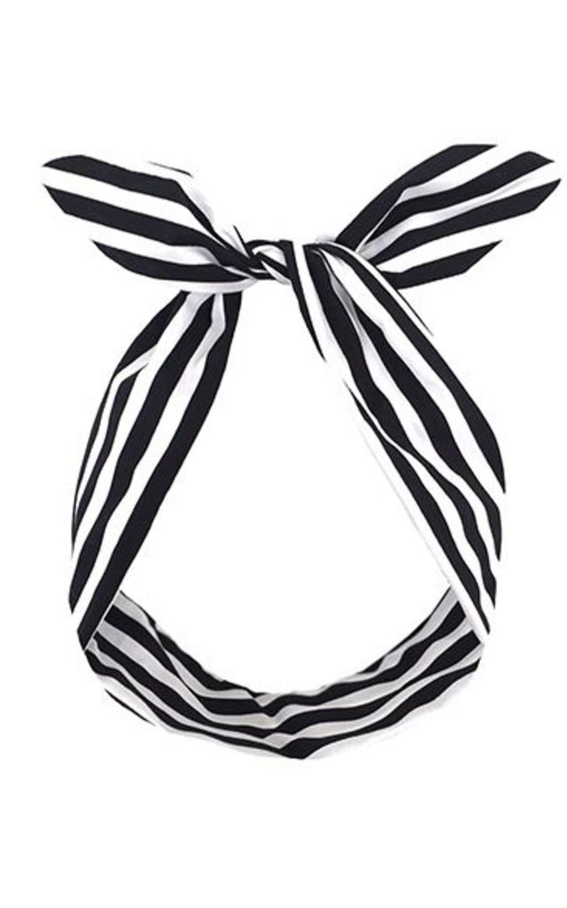 Black and white striped ribbon clipart image transparent library Black And White Stripe Monochrome Wire Headband Dolly Bow By LULU IN THE SKY image transparent library