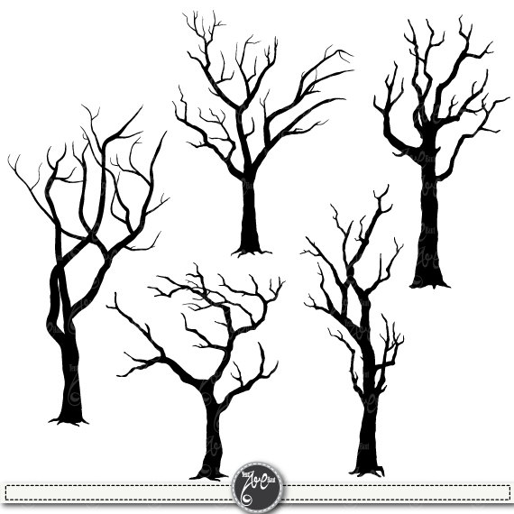 Tree looks ne forest clipart graphic free stock Tree Silhouettes Clipart \