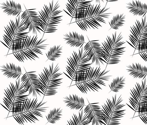 Black and white subtle tree patterns clipart clipart black and white stock Palm leaf - black and white monochrome palm leaves palm tree ... clipart black and white stock