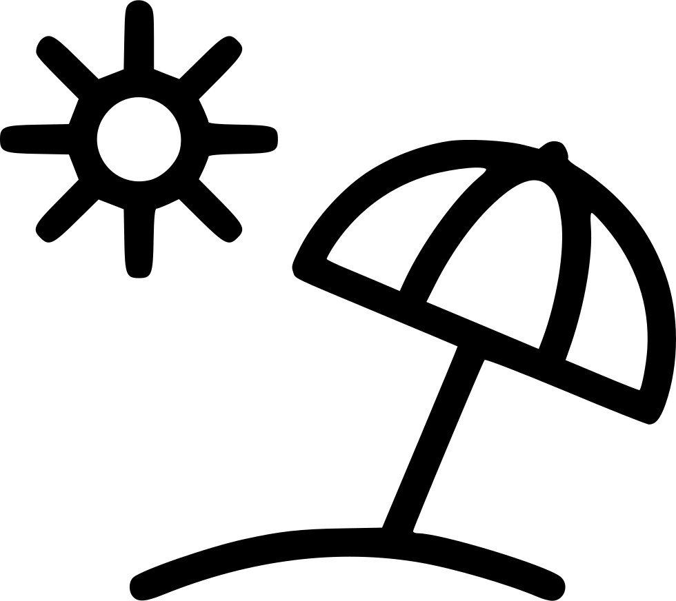 Black and white summer clipart sun picture Umbrella Sun Beach Summer Svg Png Icon Free Download (#498381 ... picture