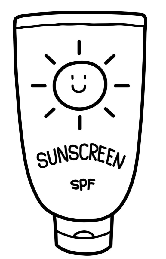 Sunscreen black and white clipart library The Truth About Sunscreen | Happy Healthy Life library