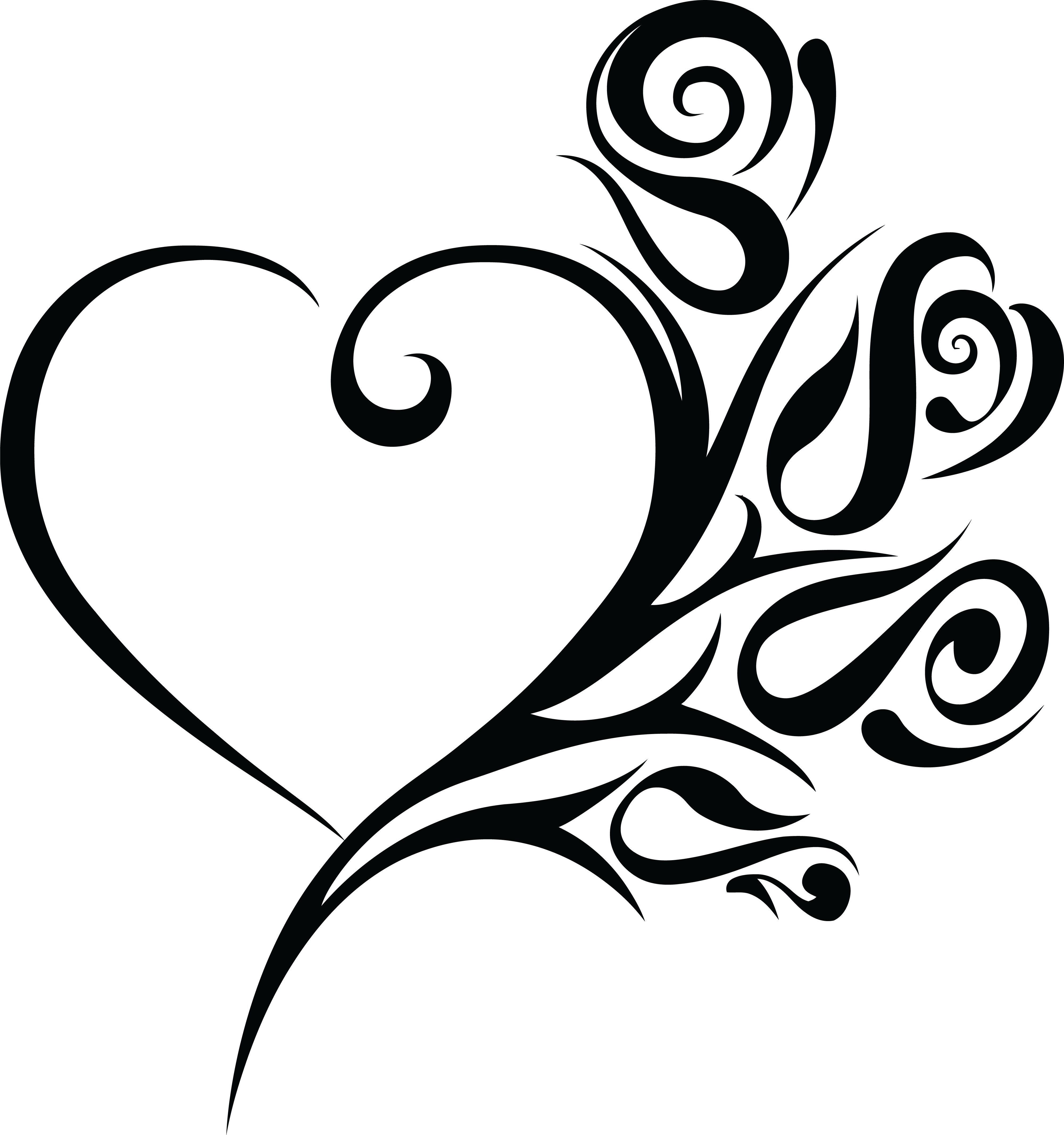 Wedding book clipart picture free 28+ Collection of Black And White Swirl Heart Clipart | High quality ... picture free