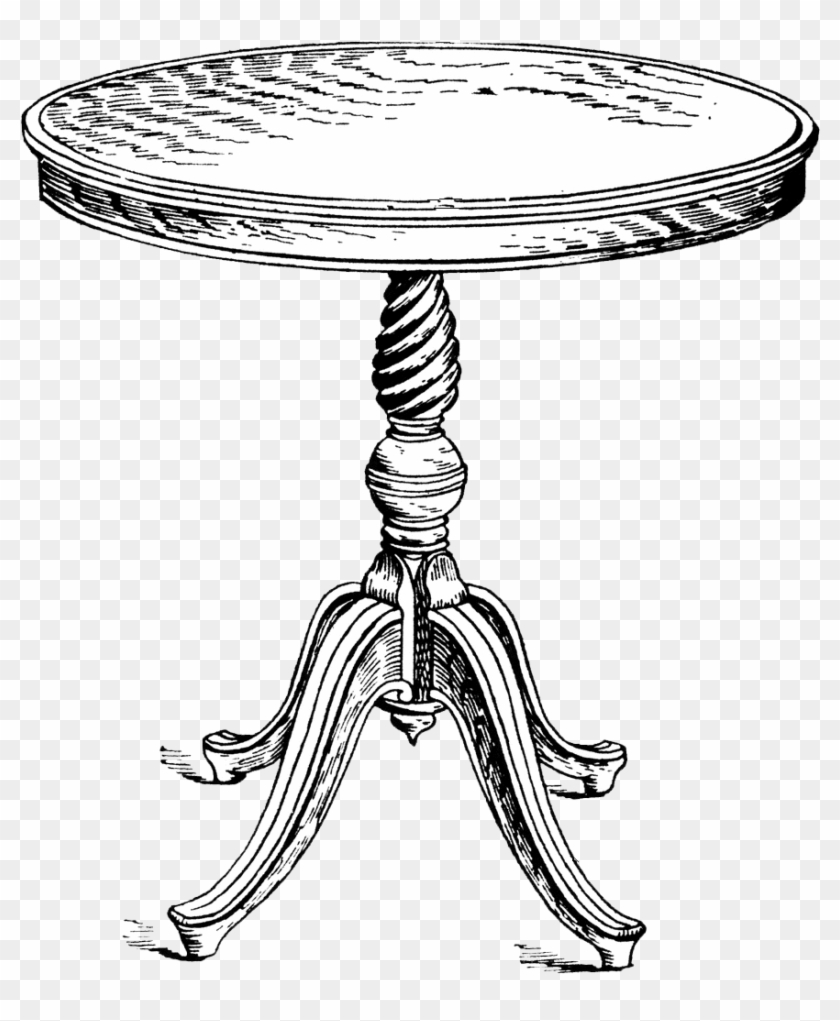 Black and white table clipart picture transparent click On Png Image To Download/save} - Round Table Clipart Black And ... picture transparent