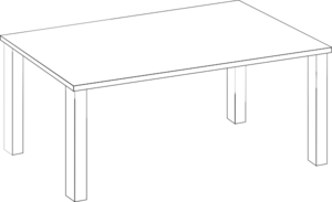 Black and white table clipart graphic freeuse Free White Table Cliparts, Download Free Clip Art, Free Clip Art on ... graphic freeuse