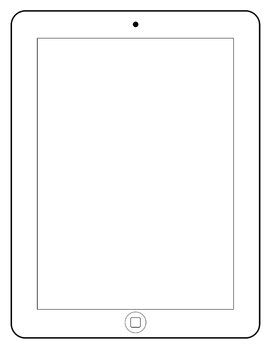 Black and white tablet clipart image download Tablet PC Clipart Frames and Borders image download