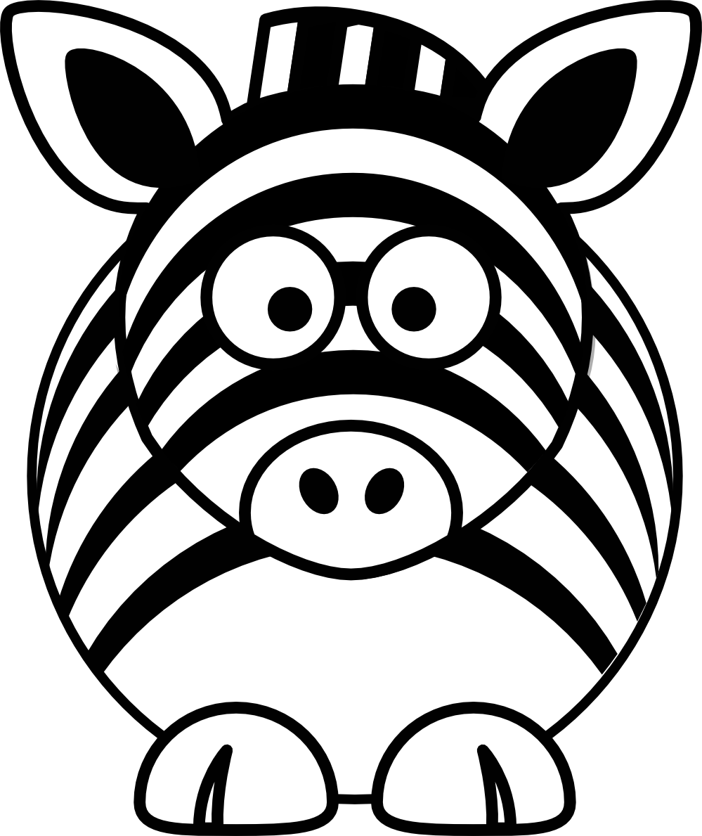 Free clipart flower black and white svg transparent library Cute Tiger Clipart Black And White | Clipart Panda - Free Clipart Images svg transparent library