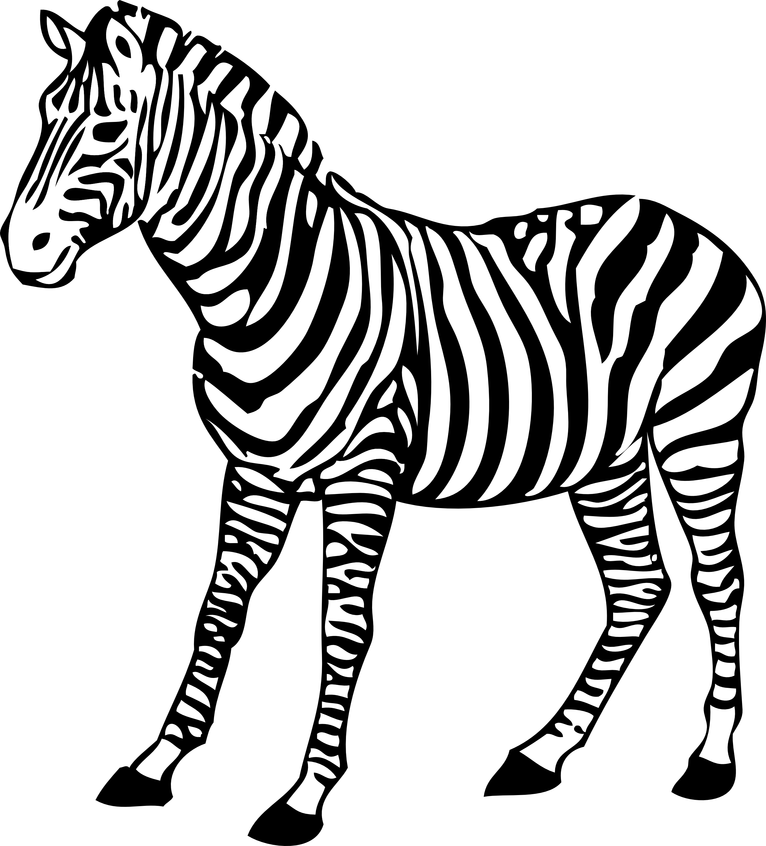 Black and white tiger book clipart free png free Tiger Clip Art Black And White   Clipart Panda - Free Clipart Images png free