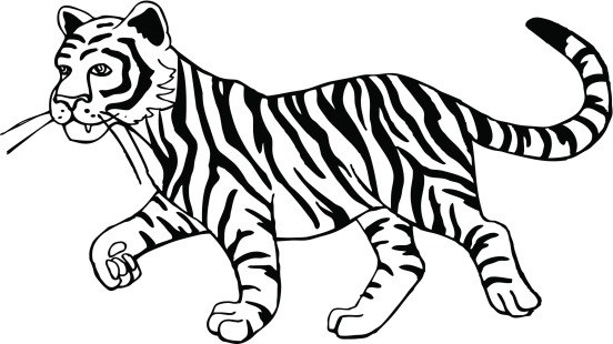 Black and white tiger clipart vector free library Black and white tiger clipart 3 » Clipart Station vector free library
