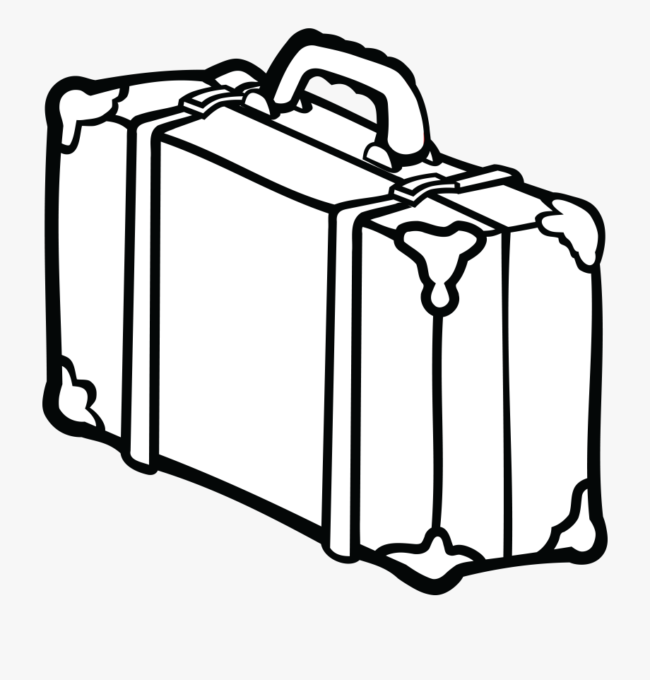 Weekend clipart black and white graphic Thumb Image - Suitcase Clipart Black And White #316301 - Free ... graphic