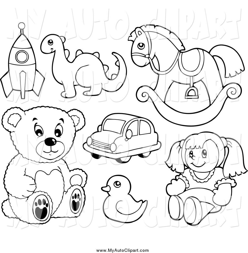 Toy black and white clipart vector freeuse Clip Art Black And White Toy Cliparts Co Baby Toys - Empoto vector freeuse