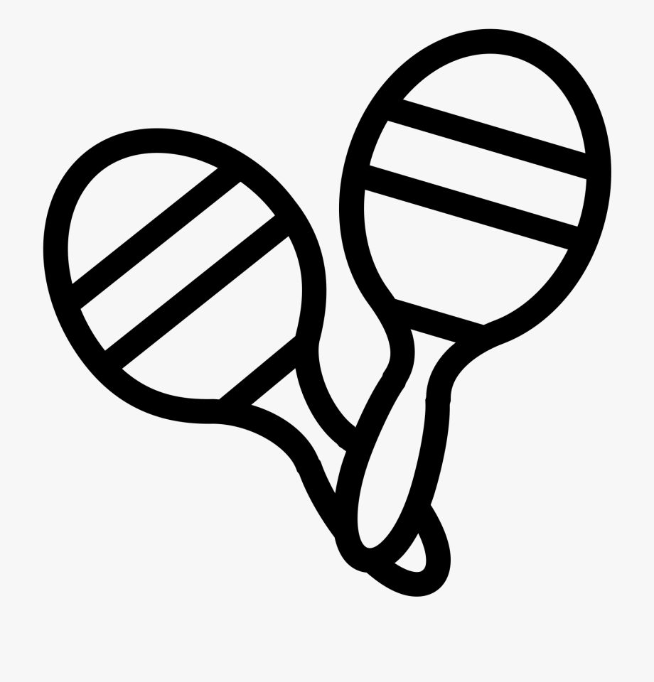 Black and white toy clipart picture transparent Maracas Icon - Toy Clipart Black And White , Transparent Cartoon ... picture transparent