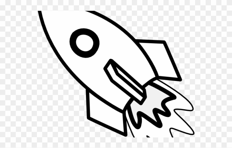 Black and white toy clipart svg library download Toy Clipart Black And White - Rocket Ship Embroidery Design - Png ... svg library download