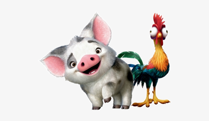 Black and white transparent chicken and pig clipart svg free library Pua Moana Png Png Black And White Library - Moana Pig And Chicken ... svg free library