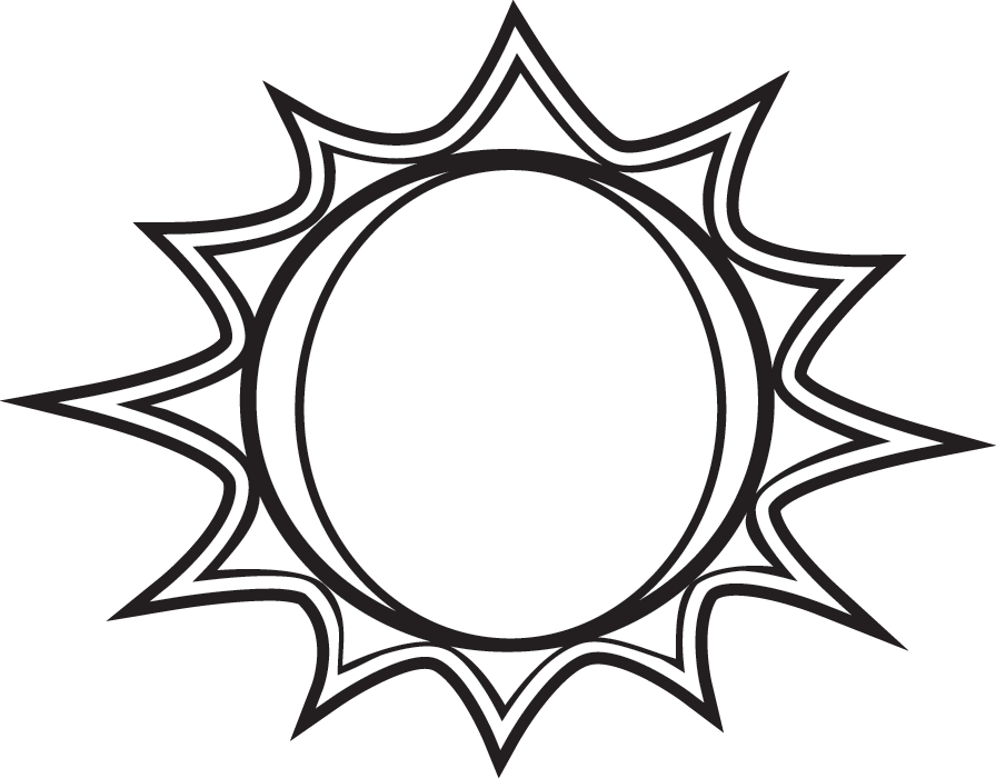 28+ Collection of Black And White Drawing Of The Sun | High quality ... clipart library download